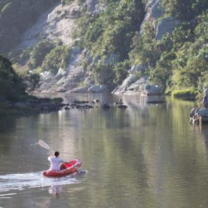 Vet students enjoy kyaking during their free time after a long week of veterinary experience in South Africa