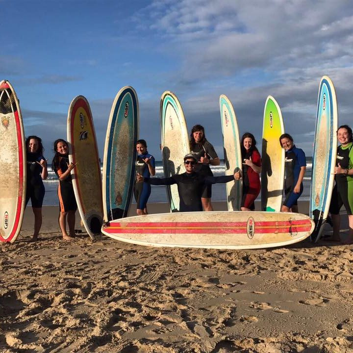 Vet students enjoy surfing during their free time after a long week of veterinary experience in South Africa