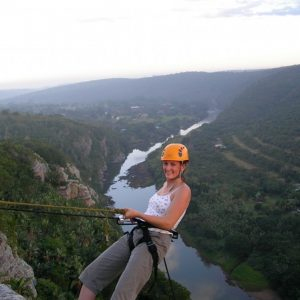 Vet students enjoy abseiling during their free time after a long week of veterinary experience in South Africa