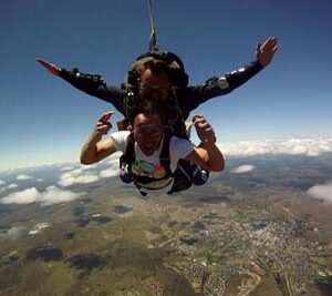 Vet students enjoy skydiving during their free time after a long week of veterinary experience in South Africa